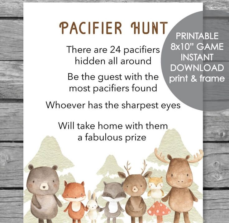 Adorable animal baby shower game ideas