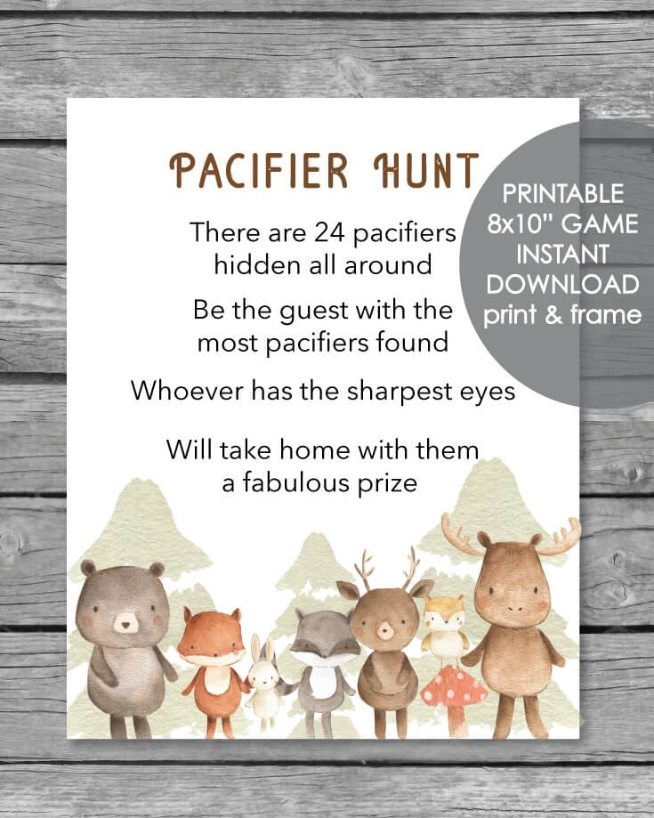 Animal Baby Shower Game Ideas